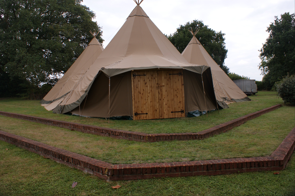 Tepee with handmade doors & Picture Gallery - Utopian Tent Company | Utopian Tent Company