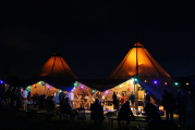 <h5>Tepees at night</h5>