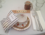 <h5>Vintage cups &amp; saucers for the bride</h5>