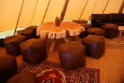 <h5>Pouffes, beanbags and handmade tables</h5>