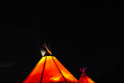 <h5>Night time tipi</h5>